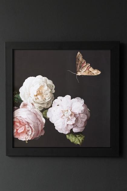 Unframed Peony Rose Floral Art Print