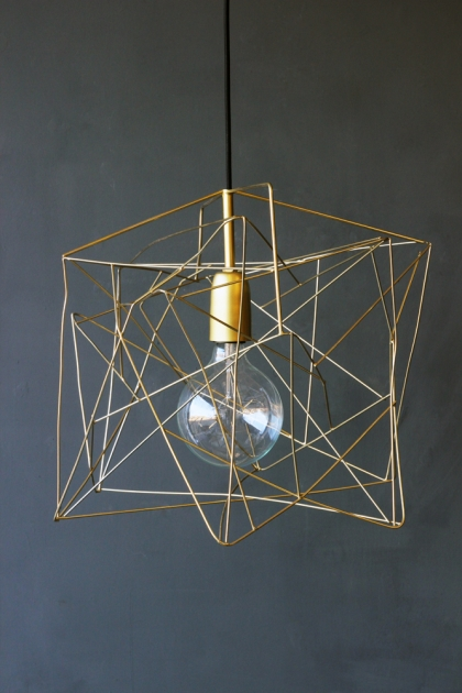 Asymmetric Shiny Brass Lamp Shade