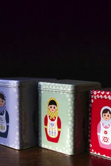 Russian Dolls Storage Tins