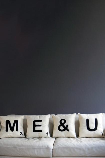 Bespoke Cream Eco Recycled Felt Scrabble Cushions