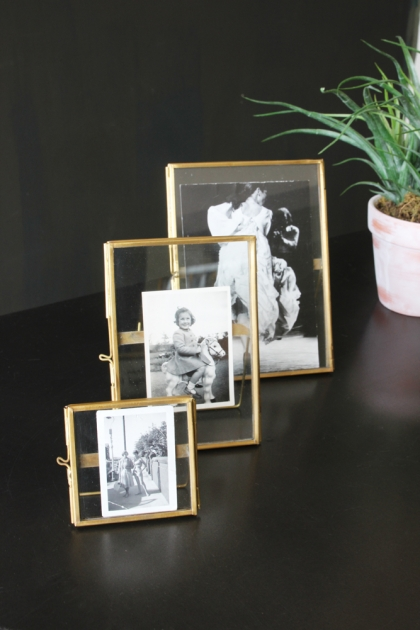 Set Of 3 Brass Picture Frames