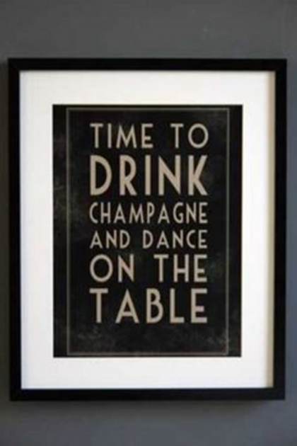 Champagne and Dancing Table Art Print