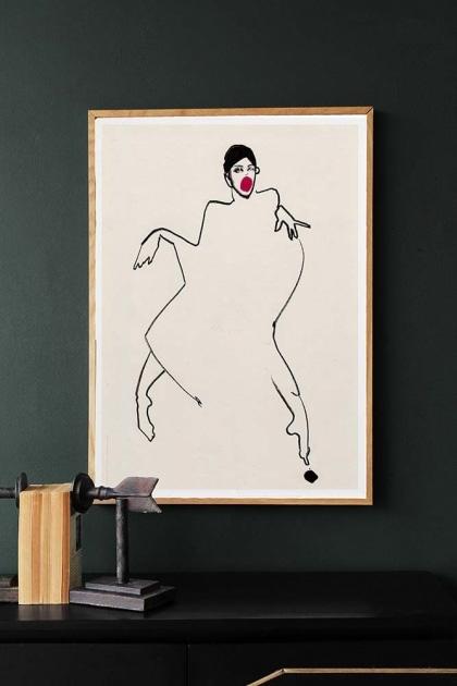 Unframed Dancer 02 Art Print by Amelie Hegardt