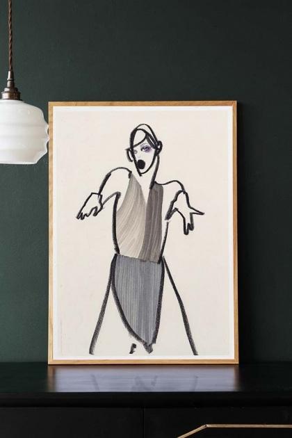 Unframed Dancer 03 Art Print by Amelie Hegardt
