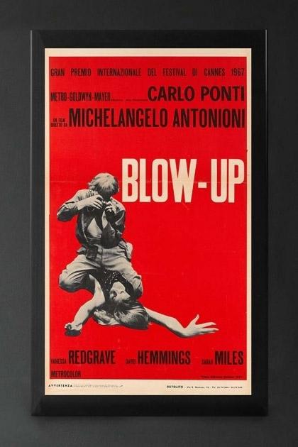 Unframed Italian Red Blow-Up Cinema Art Print