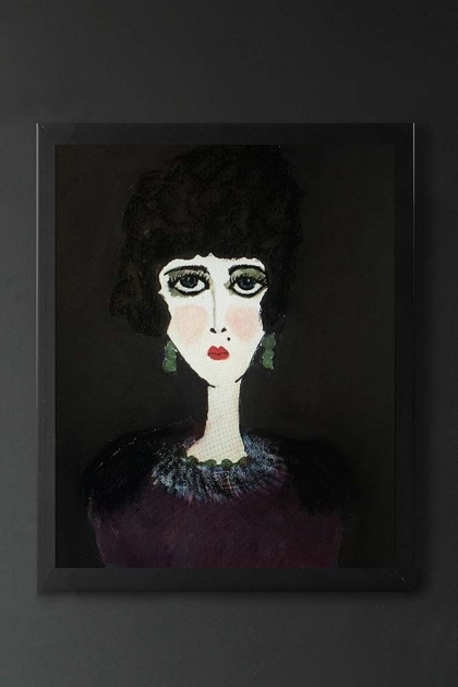 Unframed Violetta Art Print by Rebecca Sophie Leigh