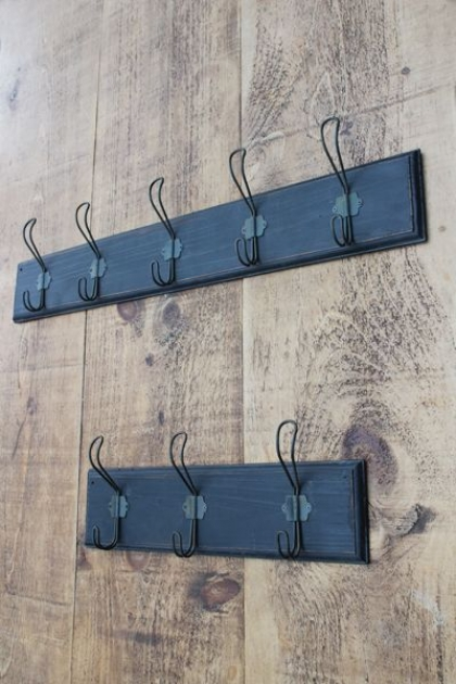 Vintage Style Dark Wood Coat Rack - Available in 2 Sizes