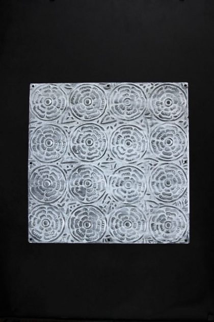 White Rose Tin Tile - 15cm x 15cm or 30cm x 30cm