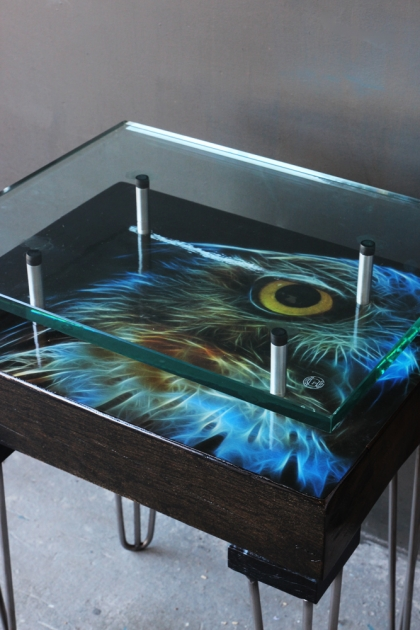 Owl Reclaimed Side Table - A