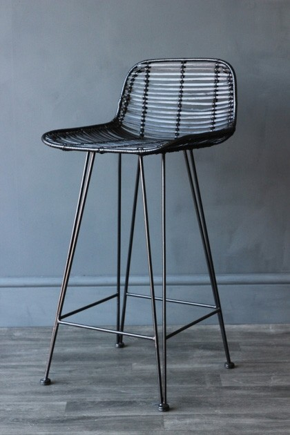 Super Black Rattan Bar Stool Ocoug Best Dining Table And Chair Ideas Images Ocougorg