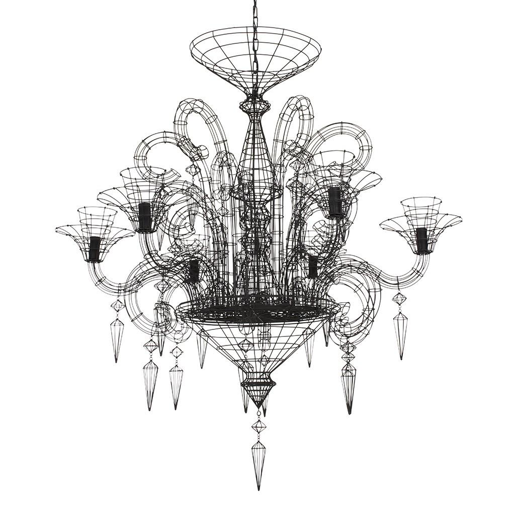 angelus shadow black wire chandelier rockett st george