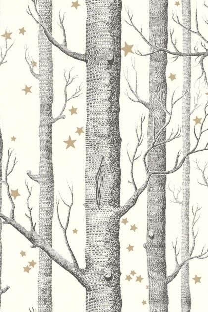 Cole Son Whimsical Collection Natural Woods Stars Wallpaper 4 Colours Available