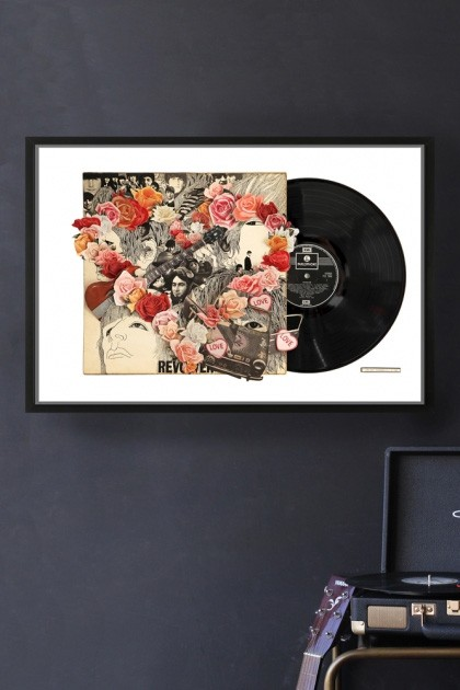 Unframed The Beatles Revolver Record Cover Collage by Alison Stockmarr