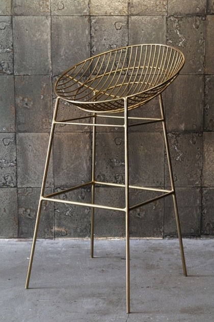 Awe Inspiring Hampstead Gold Bar Stool Machost Co Dining Chair Design Ideas Machostcouk