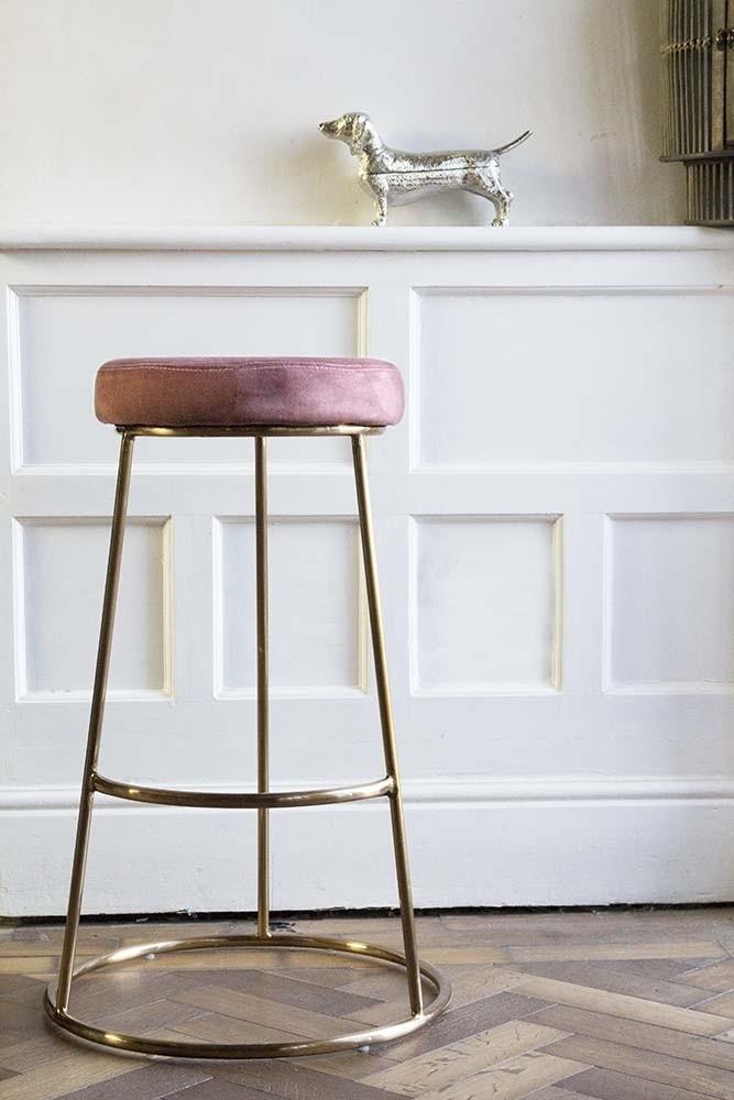 Miraculous Atlantis Velvet Bar Stool Rose Pink Cjindustries Chair Design For Home Cjindustriesco