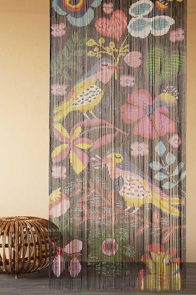Bamboo Door Curtain - Birds & Flowers Design | Rockett St George