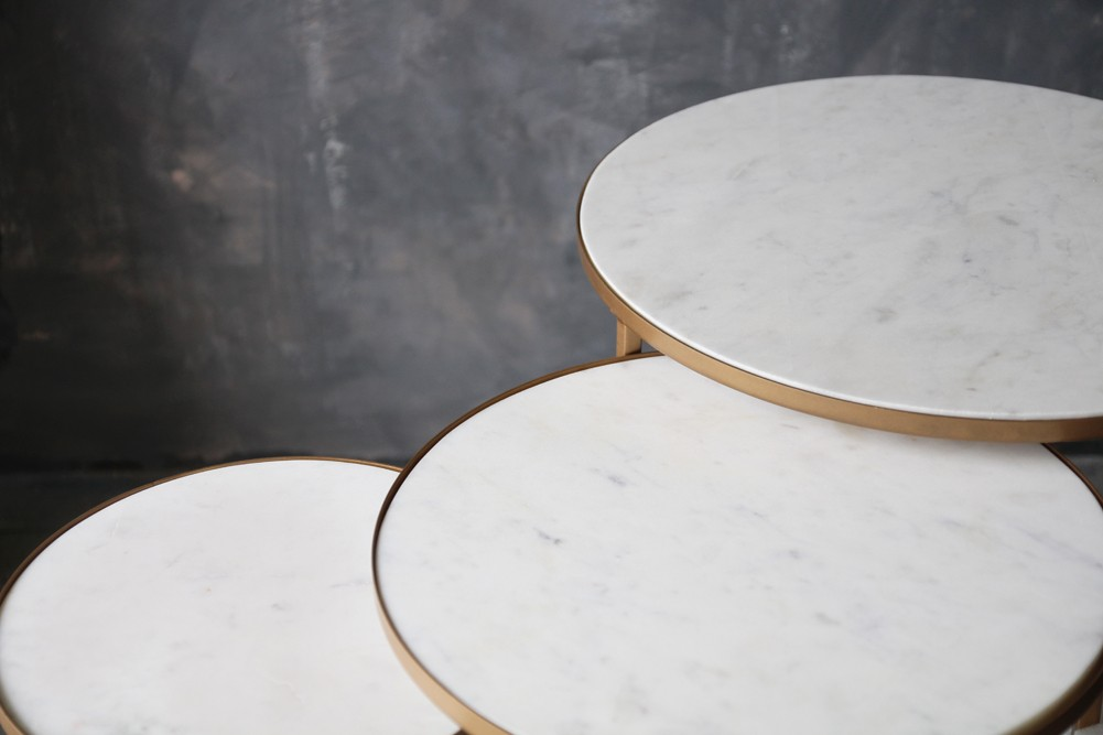 c1fd2d2b9a2f Round Nest of 3 Marble Side Tables