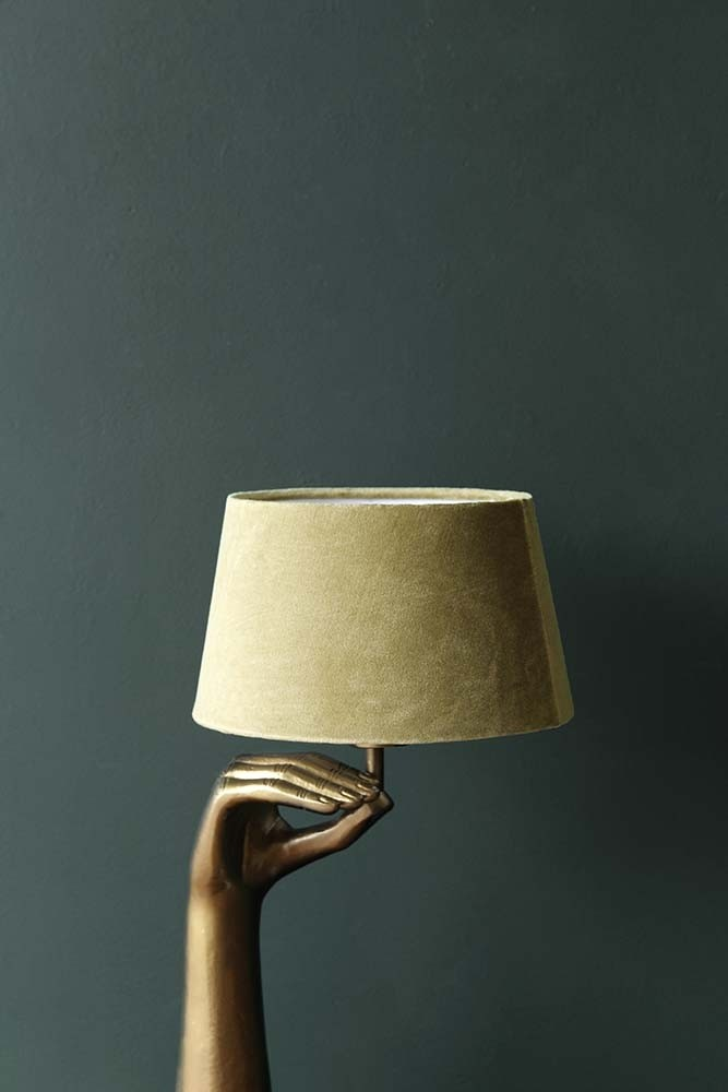 Peridot Green Sumptuous Velvet Lamp Shade Available In 3
