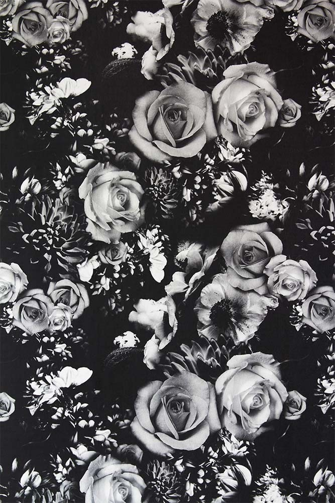 Rockett St George Flower Power Wallpaper Monochrome