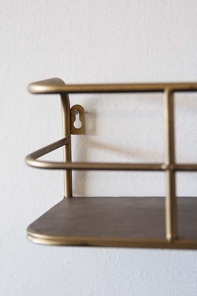 new arrival 3d519 6e061 Small Brass Wall Shelf