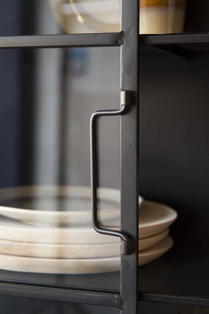 Square Metal Glass Pane Wall Cabinet Rockett St George