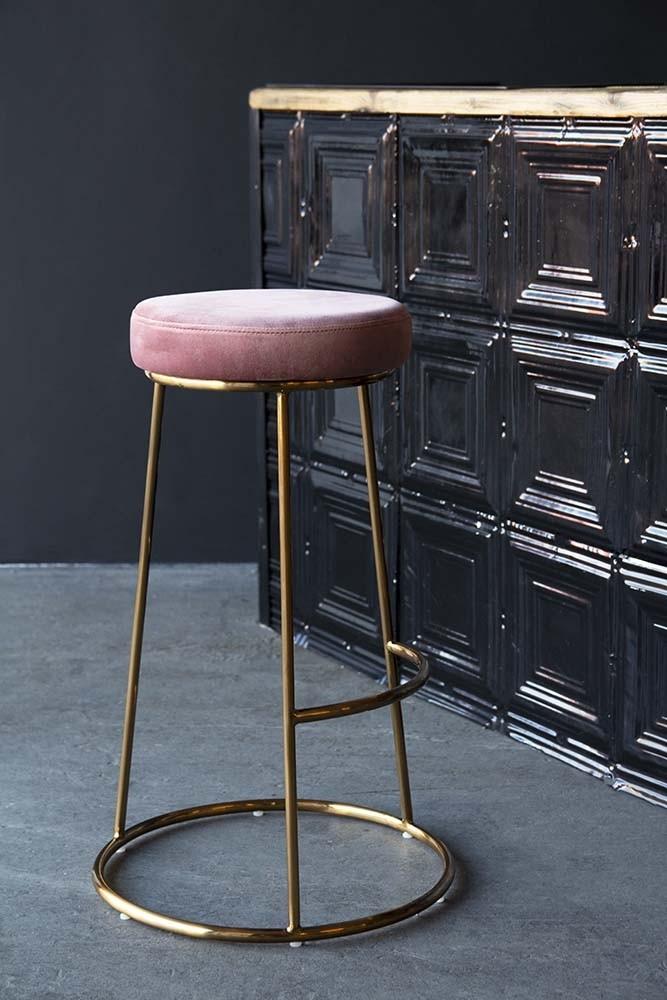 Rose Gold Kitchen Bar Stools Inspiration Blush Pink Velvet Bar Stools 5453 8