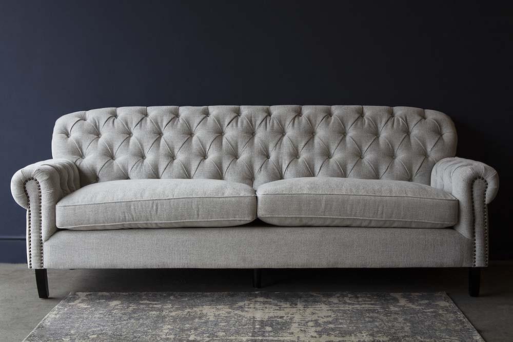Soft Grey Modern Chesterfield Sofa | Rockett St George