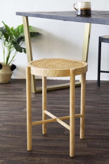 Stupendous Sungkai Woven Cane Wooden Stool Natural Machost Co Dining Chair Design Ideas Machostcouk