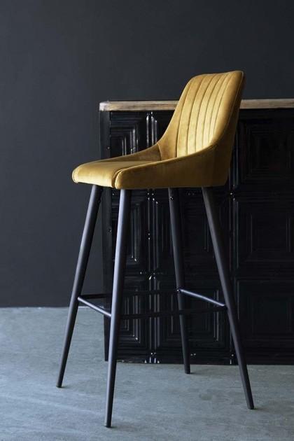 Magnificent Casino Velvet Bar Stool Golden Ochre Beatyapartments Chair Design Images Beatyapartmentscom