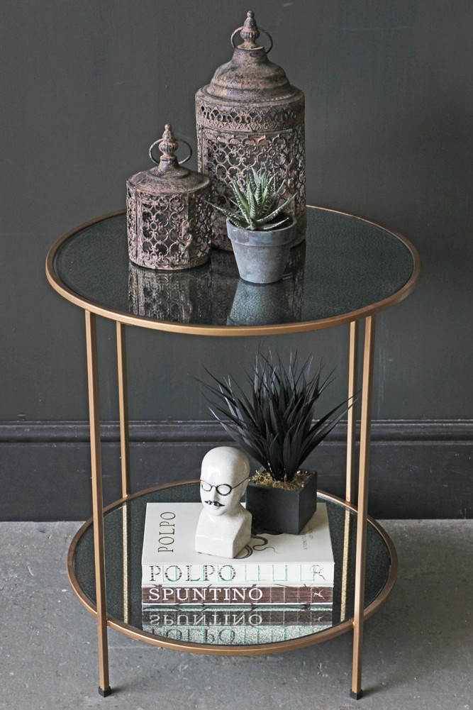 Antiqued Mirror Side Table From Rockett St George Rockett