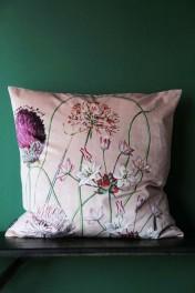 Allium Velvet Cushion - Blush Pink