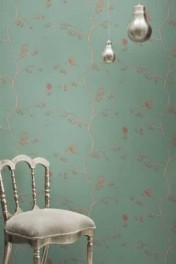 Barneby Gates Wallpaper - English Robin - Jade
