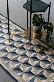 Beija Vinyl Floor Runner - Antique Geometric