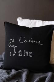 Bella Freud Merino Wool Je t'aime Jane Cushion