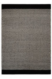 Belle 100% Wool Rug - Black/Natural Criss Cross 03 - 2 Sizes Available