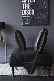 Black Leather 2 Seater Loveseat Sofa