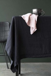 Black Linen Tablecloth