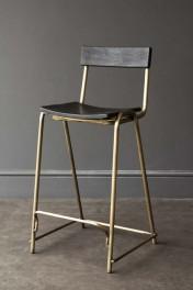 Black Soho Bar Stool With Gold Legs