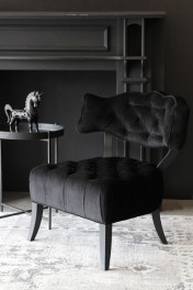 Cloud Velvet Chair - Back to Black