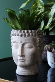 Distressed Stone Effect Buddha Planter