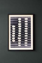 Framed Abstract Pebble Art Print