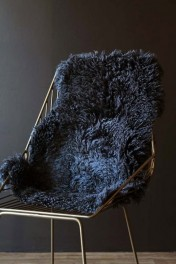 Genuine New Zealand Long Wool Curly Sheepskin - Steel