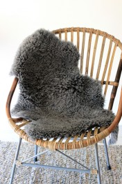 Genuine Sheepskin Rug - Curly Slate