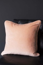 Glorious Velvet Cushion - Peaches