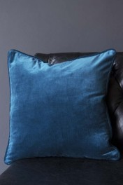 Glorious Velvet Cushion - Sea Blue