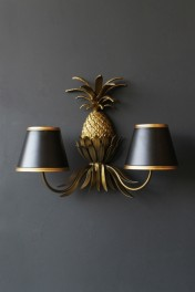 Gold Pineapple Wall Light