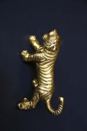 Gold Stalking Tiger Wall Hook