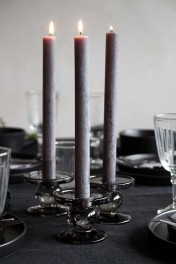 Rustic Dinner Candle - Dark Grey