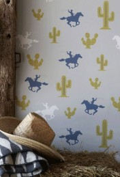 Hibou Home Cactus Cowboy Children's Wallpaper