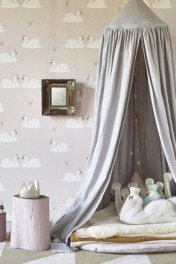 Hibou Home Swans Children's Wallpaper - 2 Colours Available